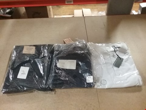 Lot 1320 LOT OF 8 BOXES CONTAINING APPROXIMATELY 196 ASSORTED CLOTHING ITEMS TO INCLUDE UNION BLUES STRAIGHT LEG JEANS, WILLIAMS AND BROWN JOGGERS NAVY AND CAPSULE MEN WHITE POLO T-SHIRT