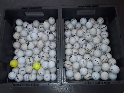 Lot 107 2 CRATES OF ASSORTED USED GOLF BALLS