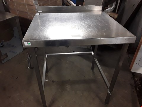 Lot 15083 WORK TABLE WITH SPLASHBACK AND VOID