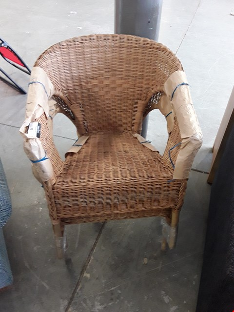 Lot 71 PAIR OF DESIGNER WICKER EFFECT CONSERVATORY CHAIRS