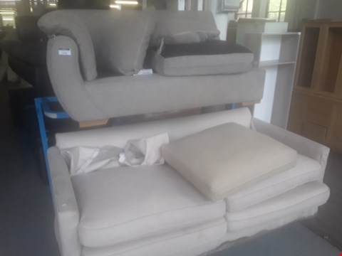 Lot 76 TWO DESIGNER TWO SEATER SOFA SECTIONS