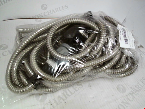 Lot 413 STAINLESS STEEL HOSE PIPE  50ft WITH SPRAY HEAD