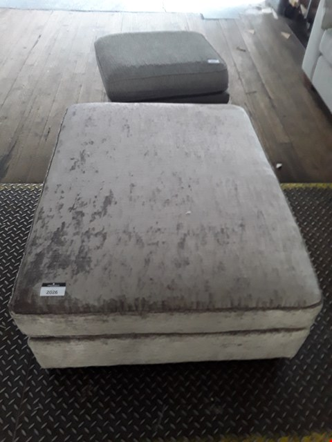 Lot 2026 QUALITY BRITISH DESIGNER MINK VELOUR LARGE FOOTSTOOL