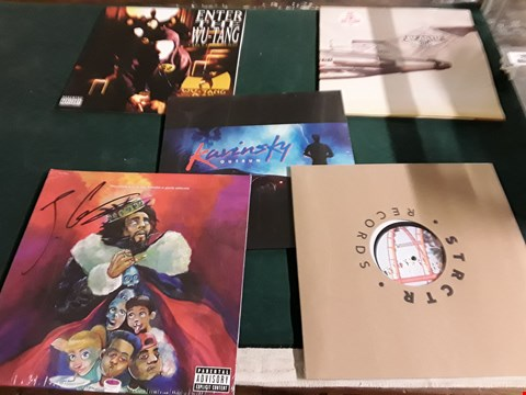 Lot 50 LOT OF 10 ASSORTED VINYL RECORDS TO INCLUDE; WU-TANG CLAN, BEASTIE BOYS, J COLE ETC