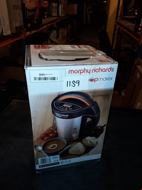 Lot 1139 MORPHY RICHARDS 1.6L SOUP MAKER