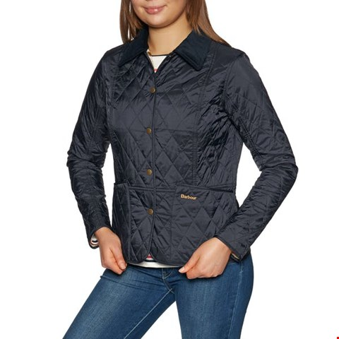 Lot 3528 BRAND NEW BARBOUR SUMMER LIDDESDALE QUILTED JACKET NAVY BLUE SIZE S