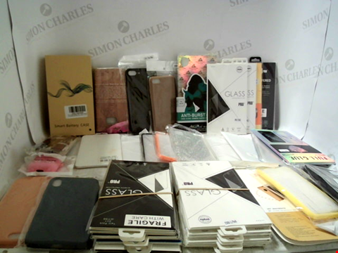 Lot 6167 LOT OF APPROXIMATELY 39 ASSORTED PHONE CASES, SCREEN PROTECTORS, CABLES ETC