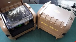 Lot 4064 2 BOXED FALLOUT 4 PIP BOY FOR VAULT DEPLOYMENT EDITION FOR XBOX ONE