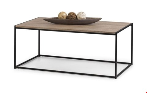 Lot 2029 BOXED GRADE 1 TRIBECA COFFEE TABLE BLACK/SONOMA OAK ( 1BOX )  RRP £79