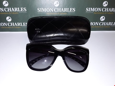 Lot 322 CHANEL STYLE GLASSES WITH GOLD LOOK DETAIL