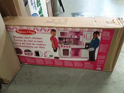 Lot 55 BOXED PINK WOODEN CHEFS KITCHEN  RRP £189