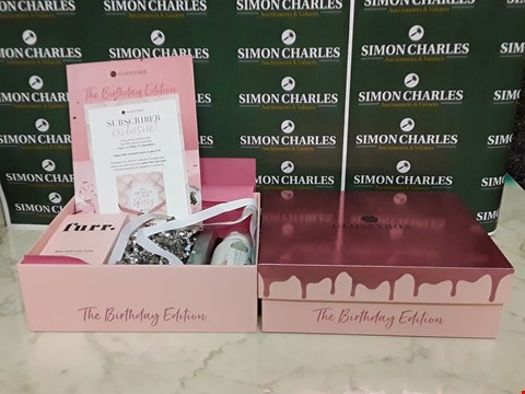 Lot 12041 LOT OF 2 GLOSSY BOX STYLE BIRTHDAY EDITION BOXSETS