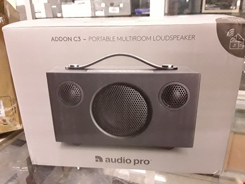 Lot 107 AUDIO PRO ADDON T3 PORTABLE BLUETOOTH SPEAKER RRP £139.00