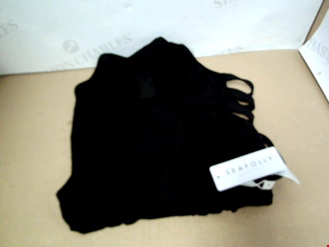 Lot 7153 SEAFOLLY ACTIVE MULTI STRAP HIGH NECK MAILLOT BLACK SWIMSUIT - SIZE 8 UK
