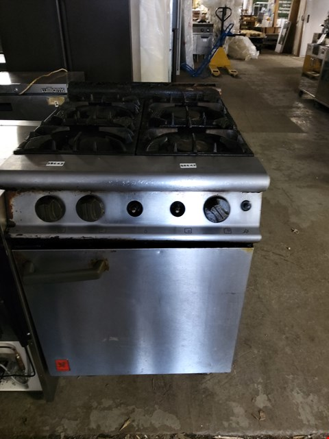 Lot 9020 COMMERCIAL STAINLESS STEEL FALCON 4 BURNER GAS OVEN