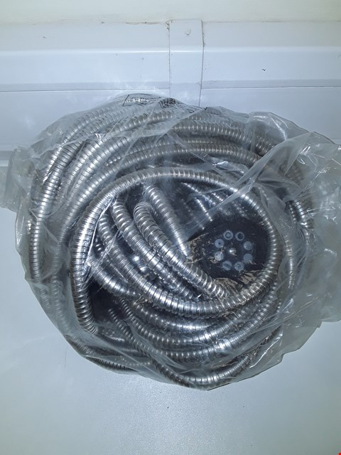 Lot 730 DESIGNER STAINLESS STEEL HOSE AND NOZZLE