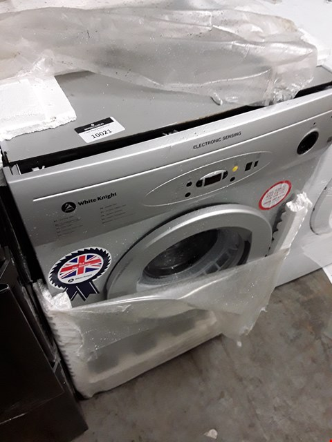 Lot 10021 WHITE KNIGHT ELECTRONIC SENSING TUMBLE DRYER SILVER RRP £190.00
