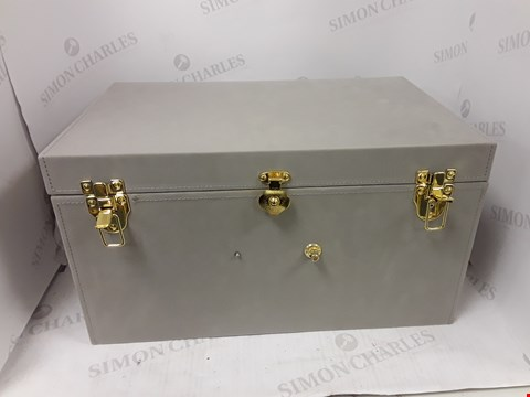 Lot 9183 SET OF 2 FAUX SUEDE TRUNKS RRP £92.99