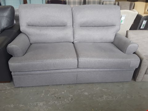 Lot 35 QUALITY BRITISH DESIGNER CARBON STEEL MIX FABRIC BERKELEY SPLIT BACK 2 SEATER SOFA