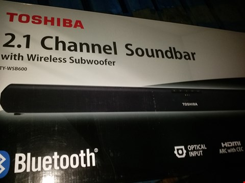 Lot 1581 TOSHIBA 2.1 CHANNEL SOUNDBAR WITH WIRELESS SUBWOOFER TY-WSB600 (CONDITION OF BOXES MAY VARY)