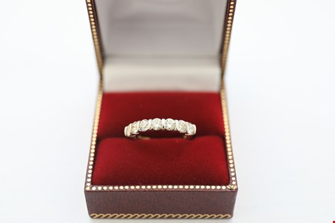 Lot 6 18CT GOLD HALF ETERNITY RING SET WITH DIAMONDS WEIGHING +-1.20CT