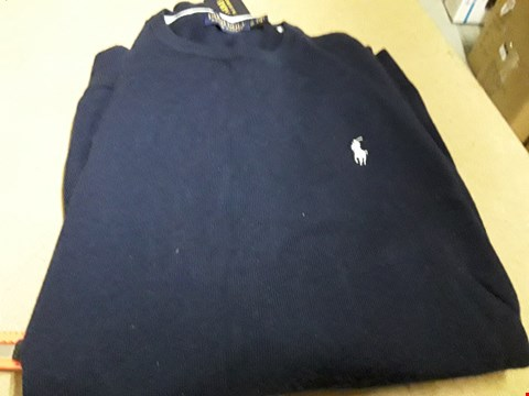 Lot 861 POLO RALPH LAUREN GOLF MERINO JUMPER FRENCH NAVY SIZE XL RRP £110
