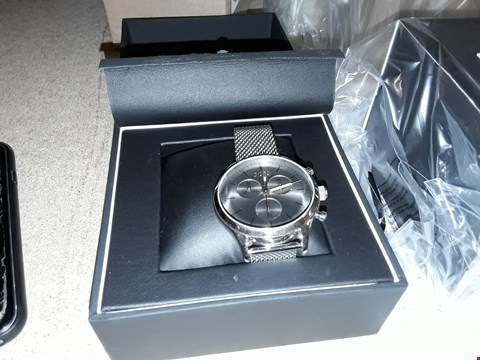 Lot 9215 HUGO BOSS BLACK COMPANION GREY DIAL WATCH RRP £359.00