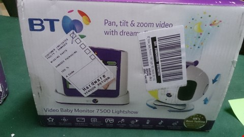 Lot 1444 BT VIDEO BABY MONITOR 7500 LIGHTSHOW  RRP £235.00