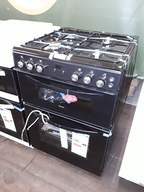 Lot 12022 SWAN SWAN SX15862B 60CM DOUBLE GAS COOKER BLACK