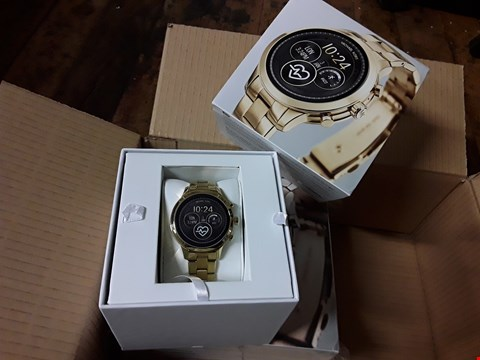 Lot 3002 BOXED MICHAEL KORS GOLD DIAL EFFECT SMARTWATCH RRP £449.00