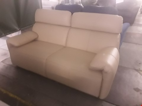 Lot 42 QUALITY BRITISH MADE HARDWOOD FRAMED ERGO LEATHER 3 SEATER SOFA