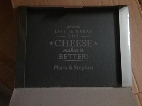 Lot 231 PERSONALISED CHEESE MAKES LIFE BETTER RRP £20