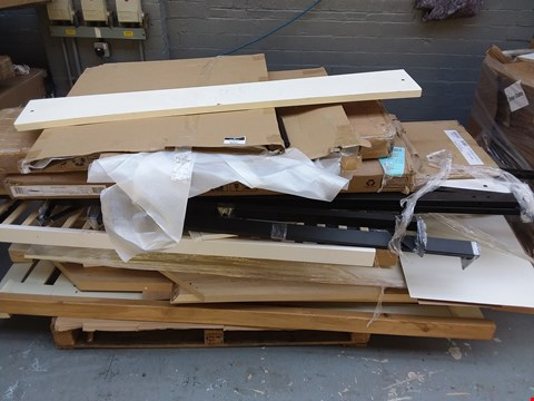 Lot 7085 PALLET OF ASSORTED FLAT PACK FURNITURE PARTS