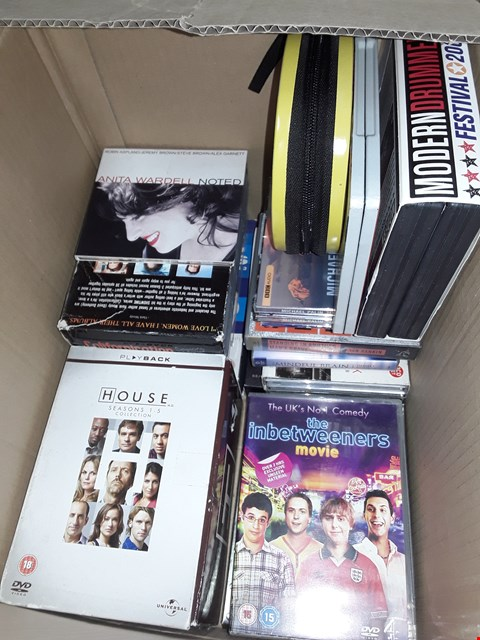 Lot 12001 Approximately 27 DVDs box sets and DVDs & CDs to INCLUDE house ,harry Potter,  wire in the blood , the inbetweeners & more