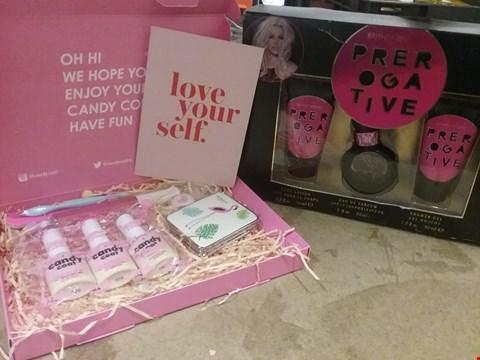 Lot 7071 LOT OF 2 ITEMS TO INCLUDE BRITNEY SPEARS PREPOGATIVE BODY SET AND CANDY COAT NAIL KIT