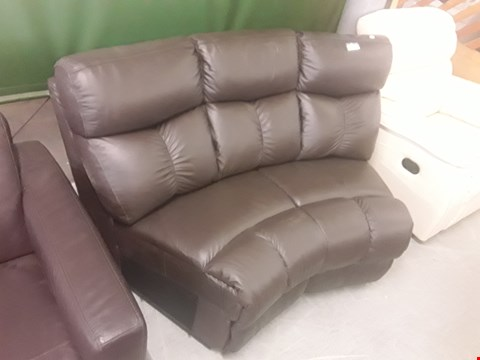 Lot 700 DESIGNER BROWN FAUX LEATHER CORNER SOFA SECTION