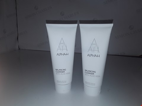 Lot 749 ALPHAH BALANCING CLEANSER WITH ALOE VERA 200ML X2