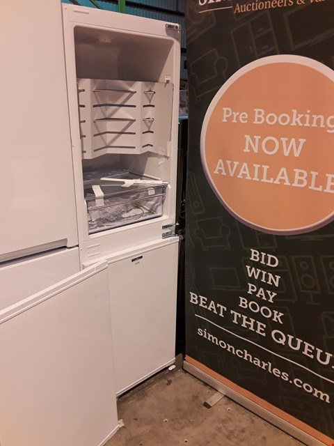 Lot 1070 BEKO WHITE TALL 50/50 FRIDGE FREEZER