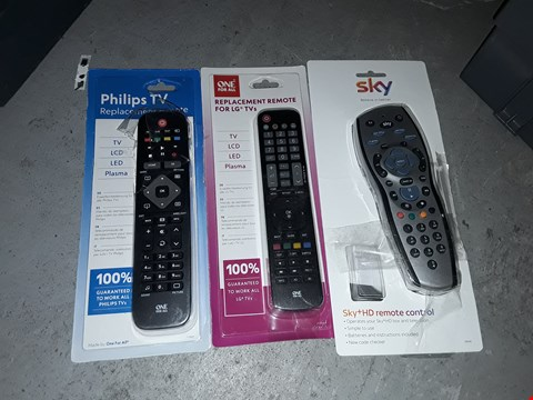 Lot 1482 BOX OF APPROXIMATELY 20 TV REMOTES TO INCLUDE SKY REMOTE, PHILIPS REPLACEMENT REMOTE AND LG REPLACEMENT REMOTE ( BOX NOT INCLUDED)
