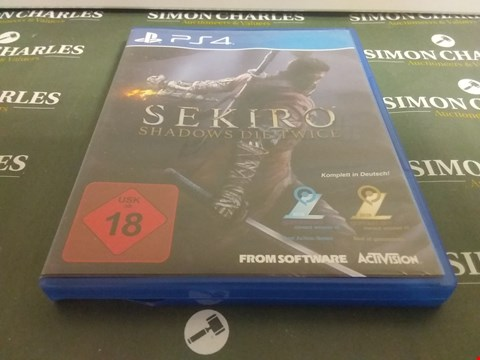 Lot 1062 SEKIRO SHADOWS DIE TWICE PLAYSTATION 4 GAME