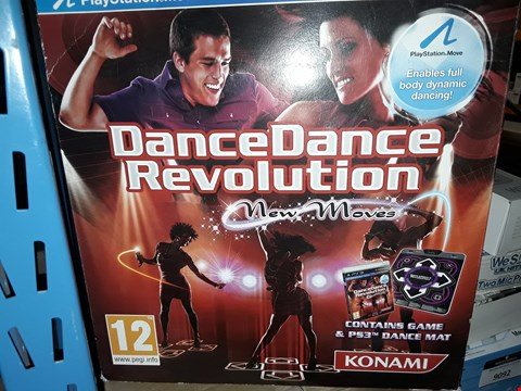 Lot 9065 DANCE DANCE REVOLUTION,  GAME AND DANCE MAT - PS3
