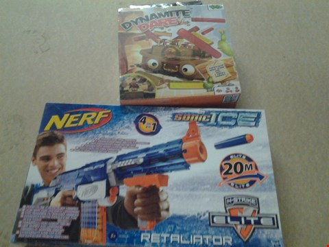 Lot 347 BOXED DYNAMITE DARE AND BOXED NERF SONIC ICE RETALIATOR