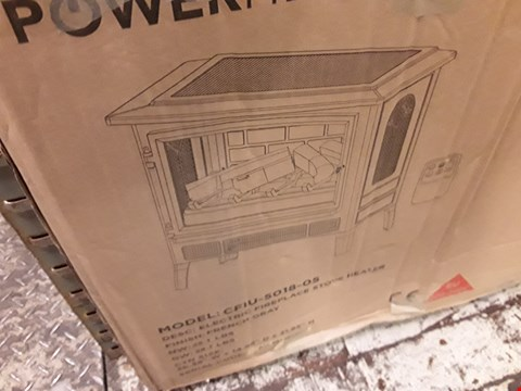 Lot 7146 BOXED POWERHEAT ELECTRIC FIREPLACE STOVE HEATER