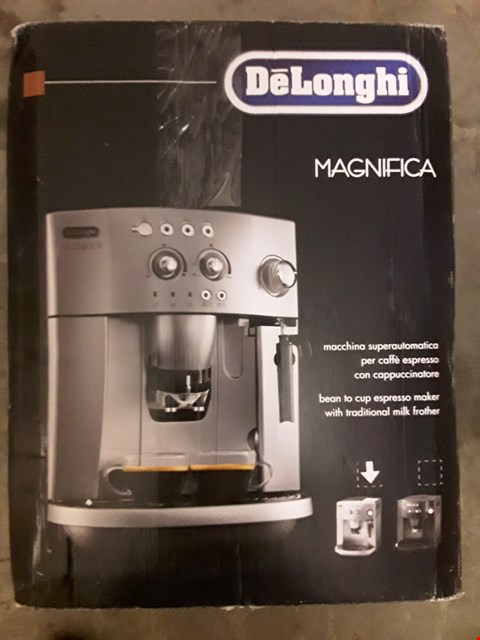 Lot 569 DELONGHI MAGNIFICA BEAN TO CUP COFFEE MACHINE