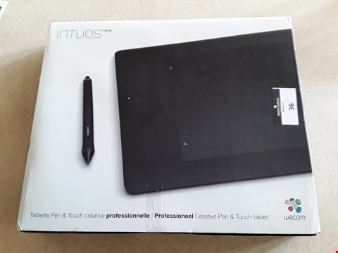 Lot 36 BOXED INTUOS PRO PROFESIONAL CREATIVE PEN & TOUCH TABLET