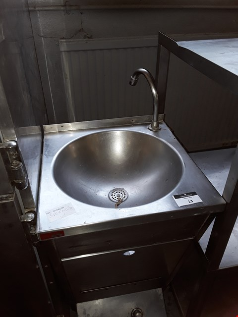 Lot 13 COMMERCIAL STAINLESS STEEL FRANKIE HAND WASH BASIN