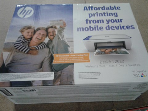 Lot 678 LOT OF 2 BOXED HP DESKJET 2630 ALL IN ONE PRINTERS RRP £32.38