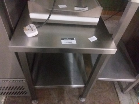 Lot 13587 SMALL STAINLESS STEEL PREP TABLE