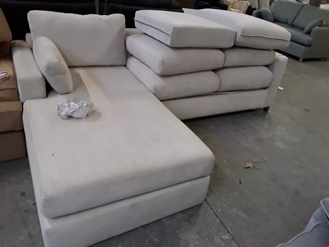 Lot 19 QUALITY HAND MADE ASHWELL STONE FABRIC 4 SEATER METAL ACTION CHAISE SOFA BED RRP £3198.00
