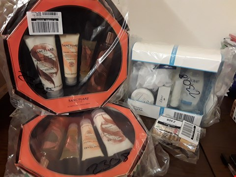 Lot 2198 LOT OF 4 ASSORTED COSMETICS TO INCLUDE SANCTUARYS SUMPTUOUS SELECTION X2, GARNIER BB CREAM ANTI AGEING MEDIUM TINT, DOVE, CLASSIC BEAUTY COLLECTION GIFT SET  RRP £72.8